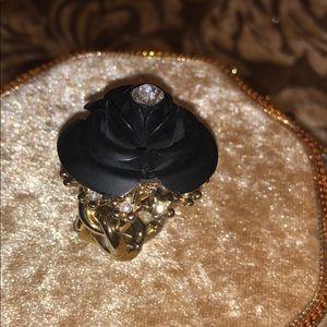 Cute Betsey Johnson black  black rose